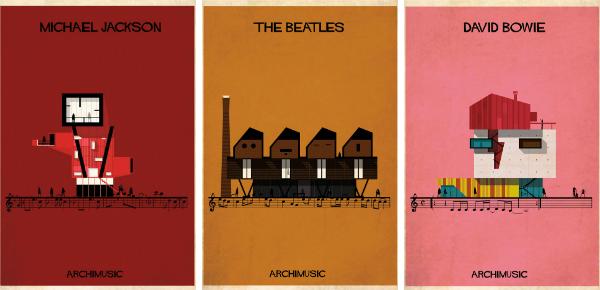 Muziek aan de muur