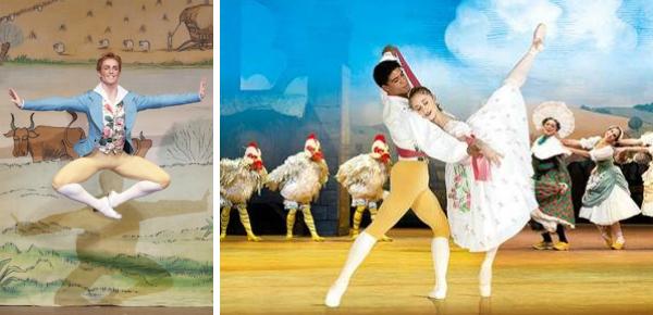 Vrolijk ballet in de bios
