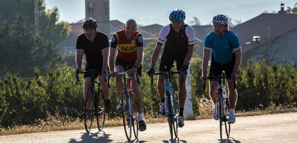 Mannen op de fiets