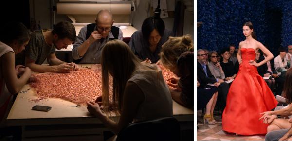 Tranen en applaus in de geest van Dior