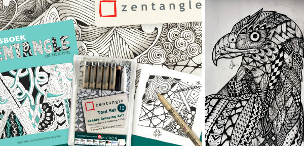 Win met Zin! 5x Zentangle pakket!