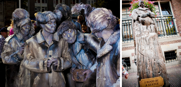 Van Gogh, theater en levende standbeelden