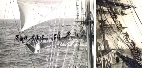 Zeilhelden op zee
