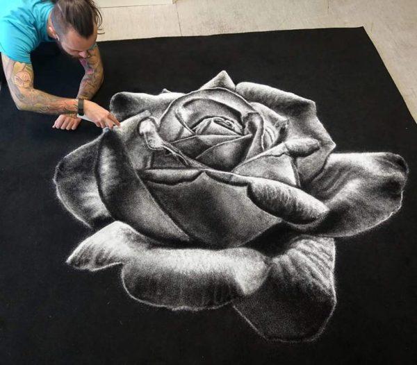 Dino Tomic zoutkunst roos