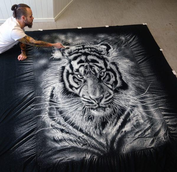 Dino Tomic zoutkunst tijger