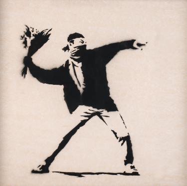 The Art of Banksy Flower thrower