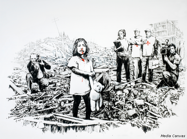 The Art of Banksy Media Canvas