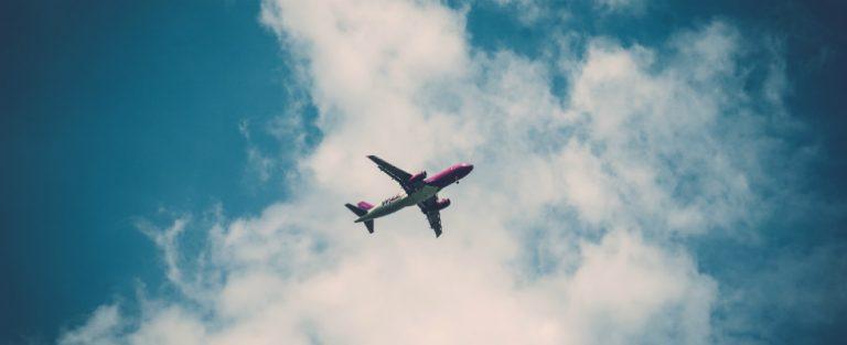 De wereld vanuit een vliegtuig