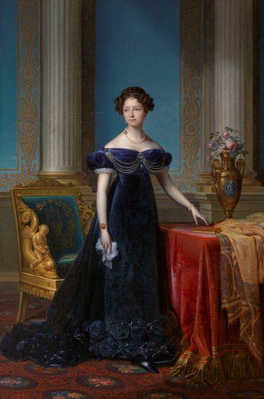 1. Staatsieportret van Anna Paulowna, F.J. Kinsoen, 1824. Collectie Koninklijke Verzamelingen, Den Haag