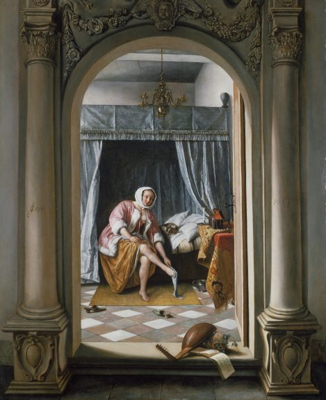 Jan Steen, Vrouw in een slaapkamer, 1663 Royal Collection Trust / © Her Majesty Queen Elizabeth II 2016