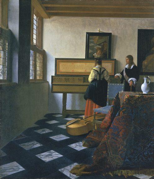 Johannes Vermeer, De Muziekles, c. 1660-1662, Royal Collection Trust / © Her Majesty Queen Elizabeth II 2016