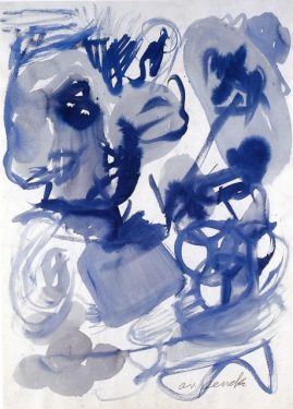 A.R.Penck, untitled, 1975, ink on paper, 102 x 73 cm, C und K Galerie, Berlin