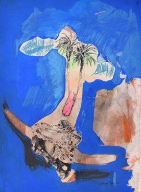 Frederique Loutz, untitled, 2015, mixed media on paper, 56 x 76 cm, Galerie Papillon, Paris
