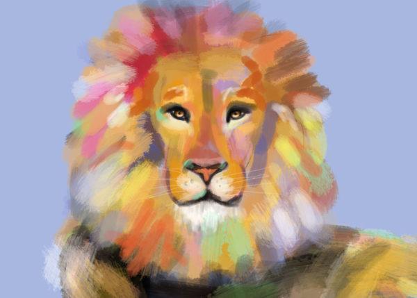 tekeningen dieren leeuw