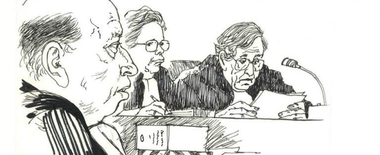 Rechtbanktekeningen in Kunsthal Rotterdam