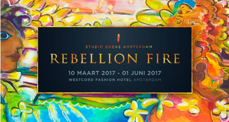 Protestschilderijen bij Rebellion Fire