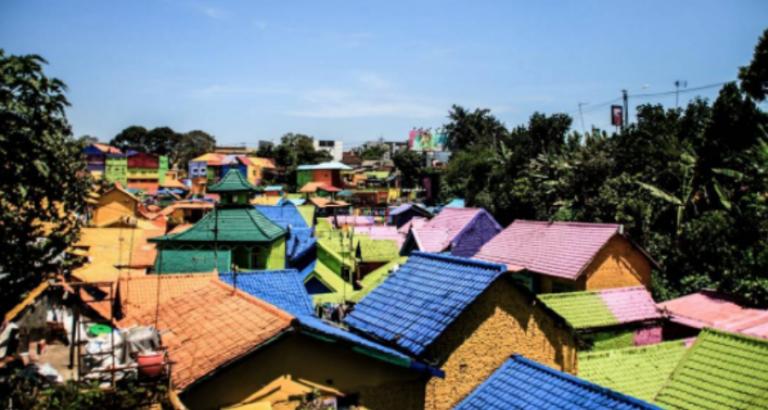 Kleurrijke wijk