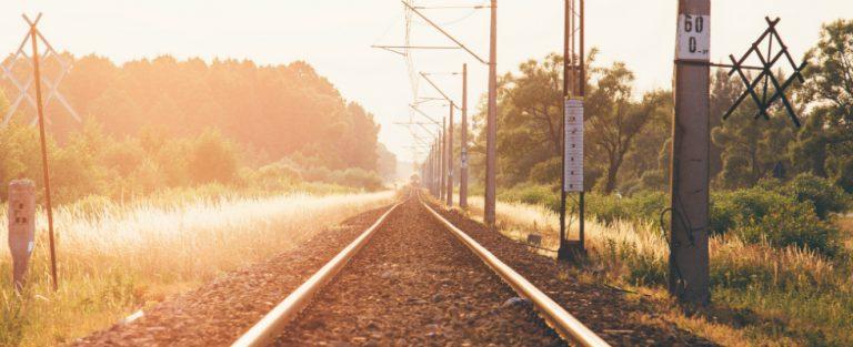 Echtpaar in de trein