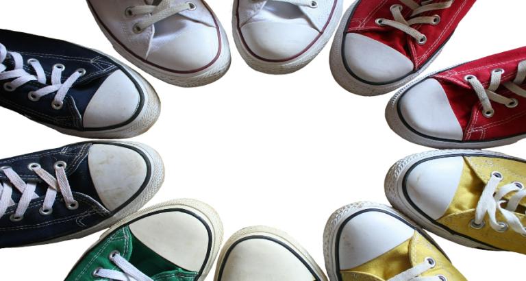 De platte schoen