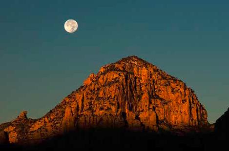 De maan is een kunstwerk
