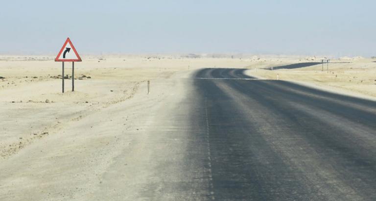 De eenzame verkeersborden van Namibië