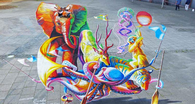 Straatkunst in Arnhem