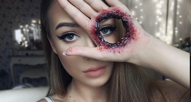 Halloween make-up waar je u tegen zegt