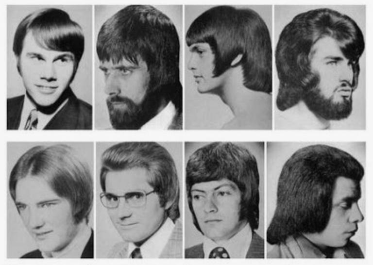 Mannen-kapsels uit de jaren 70 waar we nu heel hard om moeten lachen
