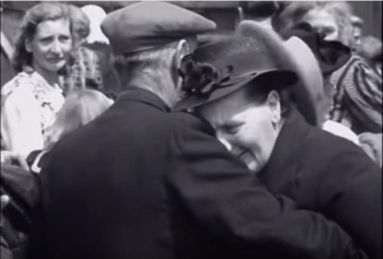 'Ik vertrek' in 1947:  je dacht dat je elkaar nooit meer terugzag