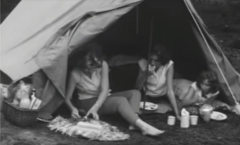 Kamperen, zo ging dat in de jaren 60