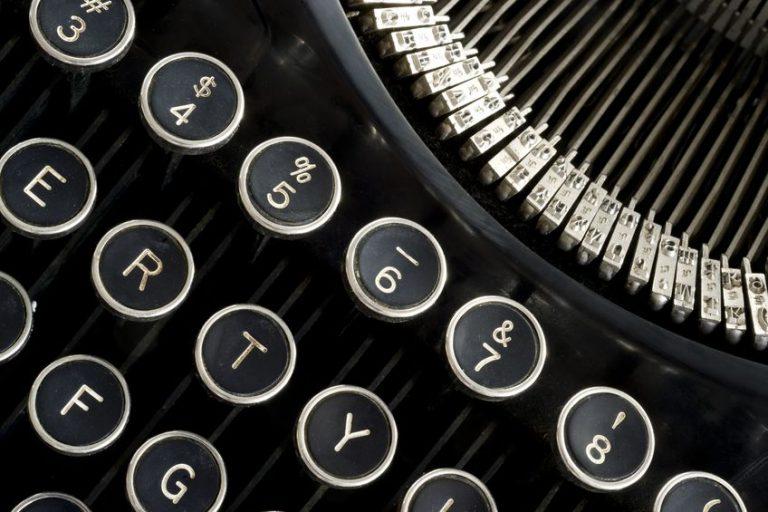 Creatief met een typemachine!