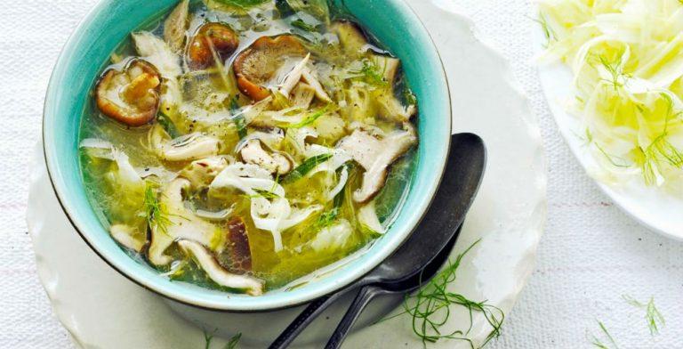 Deze soep is een verrassende mix van smaken. Fris en aards!