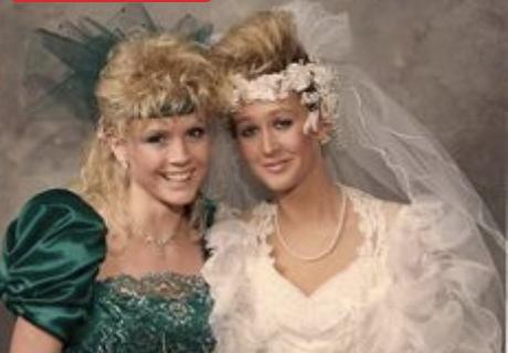 Geweldige foto's van bruidsmode in de jaren tachtig