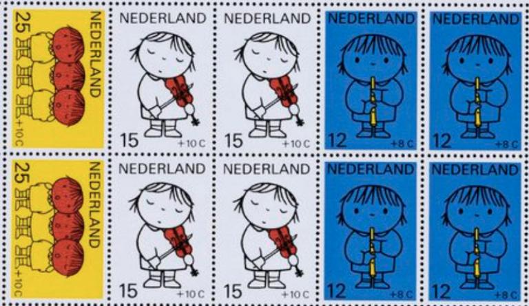 Ken je deze kinderpostzegels nog?