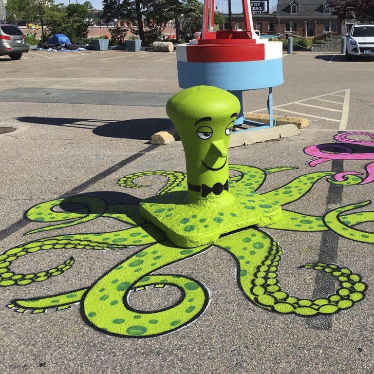Vrolijke straatkunst
