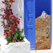 Traditional architecture on Sifnos island, Greece