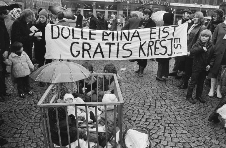 Het is ook alweer 50 jaar geleden dat de Dolle Mina's de straat op gingen
