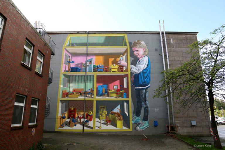 8 x straatkunst van Leon Keer