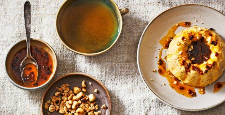 Lekkere duindoornpuddinkjes met hazelnoot en likeur