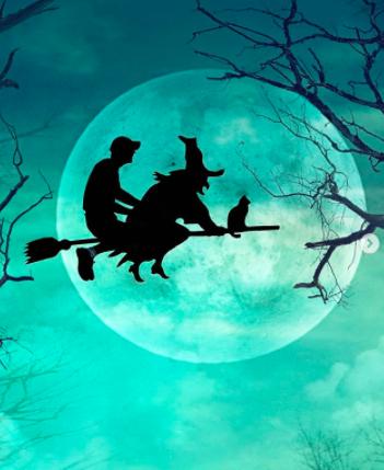 Kunstzinnige Halloween silhouetten