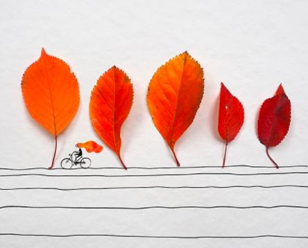 Prachtige herfstige kunstwerken