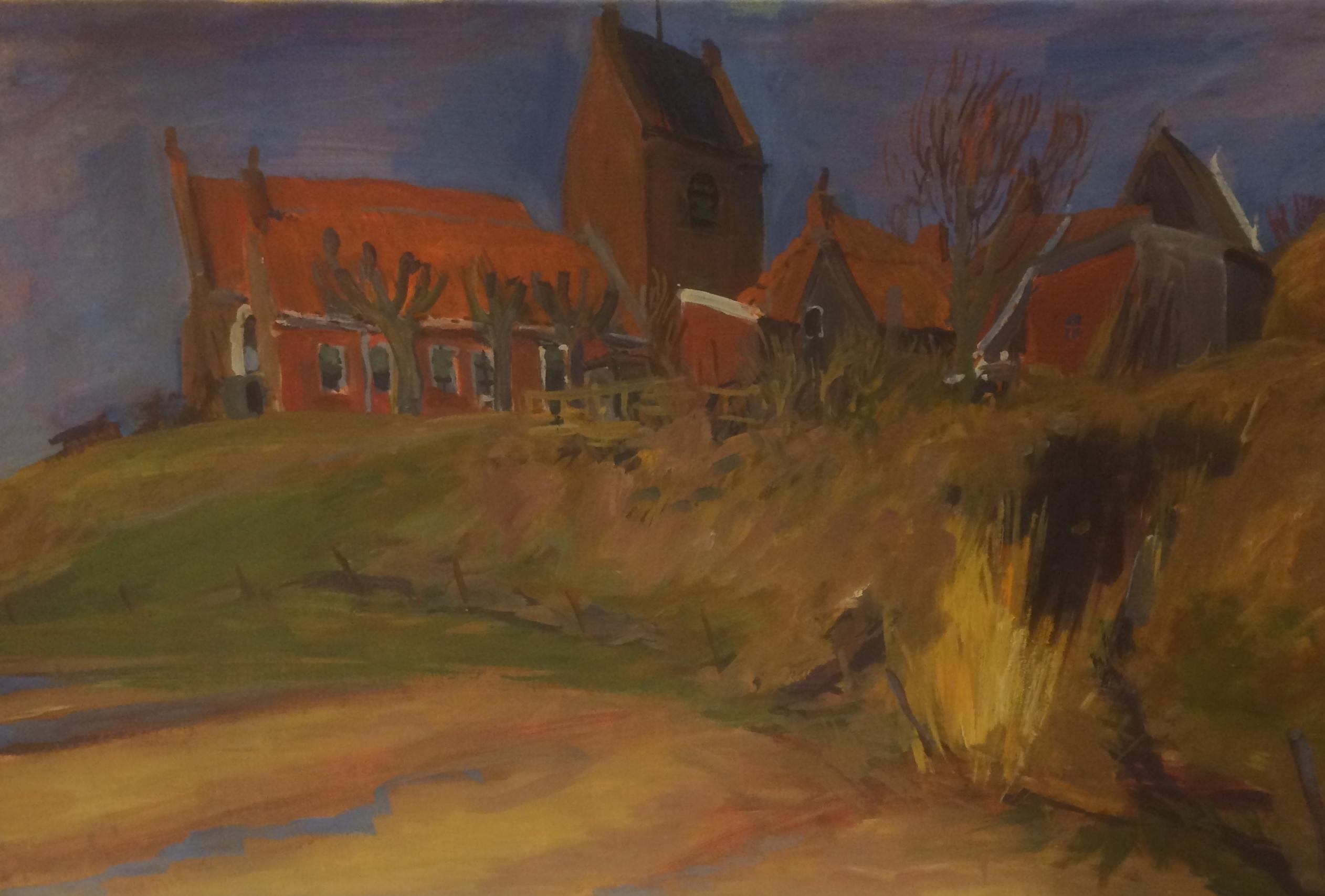 Kerkje Fransum door  Johan Dijkstra